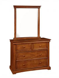 Bolton Furniture 861470700 Cambridge 4-Drawer Dresser with Mirror Set, Chestnut