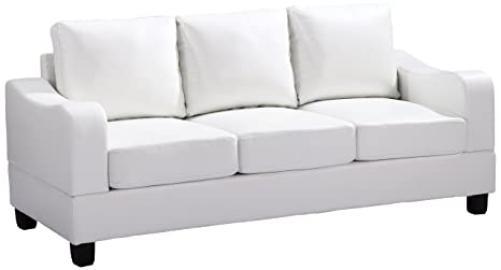 Glory Furniture G627-S Living Room Sofa, White
