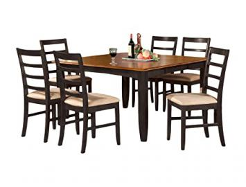 East West Furniture PARF5-BLK-C 5-Piece Dining Table Set