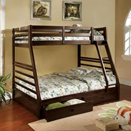Furniture of America Redden Twin over Full Bunk Bed with Storage Drawers