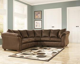 DARCYEspresso LOVESEAT SECTIONAL W/ BY Famous Brand