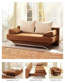 Croma Convertible Sofa Bed | Brown/Beige