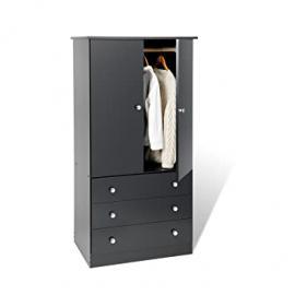Black Edenvale 3 Drawer Wardrobe