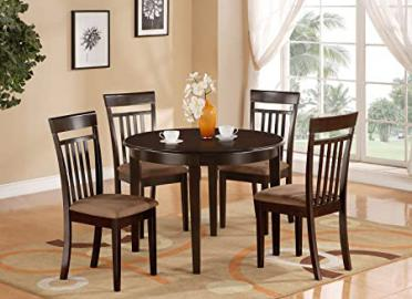 East West Furniture BOCA3-CAP-C 3-Piece Kitchen Nook Dining Table Set, Cappuccino Finish
