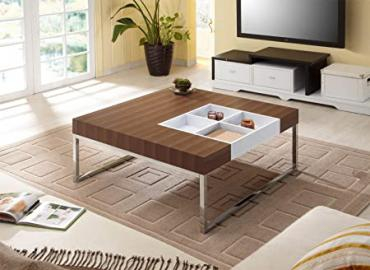 Maderia Modern Coffee Table with Flip-Top Service Tray