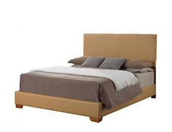 Glory Furniture G1860-KB-UP Sleigh Bed, King, Tan, 3 boxes