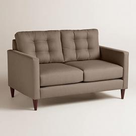 Textured Woven Ryker Upholstered Love Seat - World Market