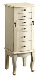 Treasure Trove Accents Jewelry Armoire, Conickville Burnished Ivory Finish