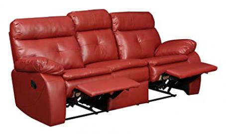 Glory Furniture G570-RS Reclining Sofa, Red