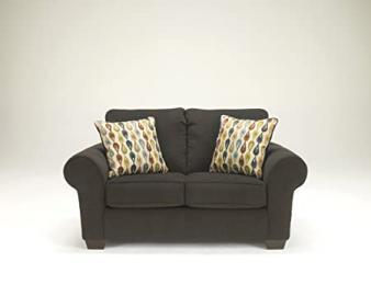 Deandre Contemporary Grey Fabric Loveseat