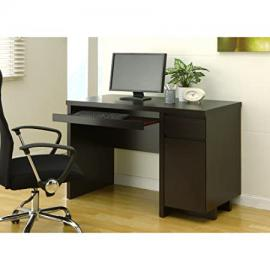Metro Shop Furniture of America Mainstreet Cappuccino Office Desk with Keyboard Tray-Cappuccino