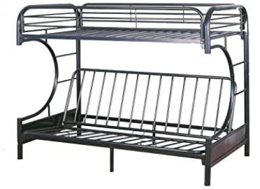 Milton Greens Stars 7565BK Orlando Twin Over Full Bunk Bed, Black