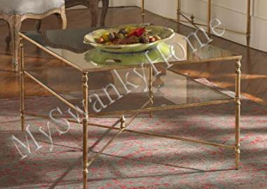 Elegant BARSTOW Coffee Table Glass Iron MINIMALIST