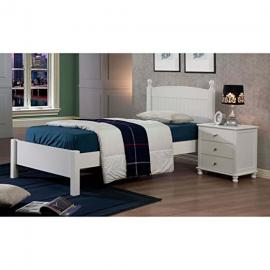 Metro Shop Anderson White Finish Twin Bed-Anderson Twin Bed in White