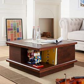 Furniture of America Contemporary Terrance Coffee Table, Vintage Walnut