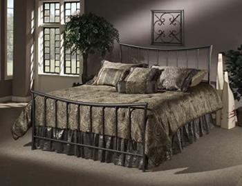 Hillsdale Furniture 1333BKR Edgewood Bed Set with Rails, King, Magnesium Pewter