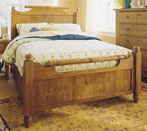 Broyhill Attic Heirlooms Original Oak Bedroom Queen Feather Bed - 4397-56S/57S/570S