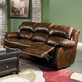 Casual Leather Sofa with 2 Recliners