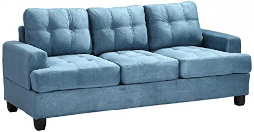 Glory Furniture G518A-S Living Room Sofa, Aqua
