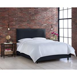 Skyline Furniture Nail Button Border Bed, Full, Chambers Navy