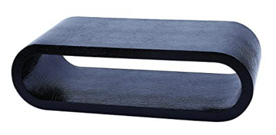 Benzara Wood Lther Coffee Table, 54 by 54 by 56-Inch, Blue