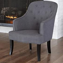 Metro Shop Christopher Knight Home Sophia Dark Grey Fabric Chair-Sophia Dark Grey Fabric Chair