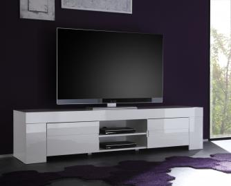 TV STAND EOS -white entertainment center