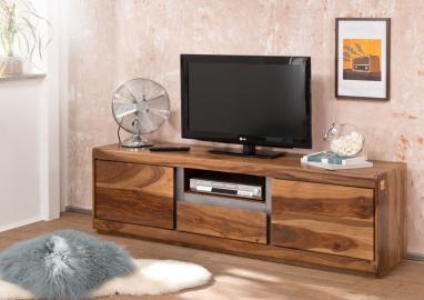 TV-Board Sheesham 170x40x50 noble unique lackiert SHIELD #115