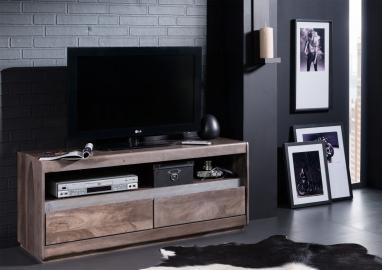 TV-Board Sheesham 120x40x50 smoked oak lackiert SHIELD #214