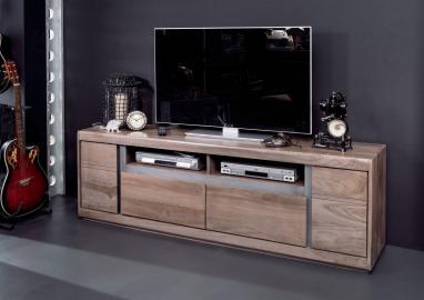 TV-Board Sheesham 180x40x60 smoked oak lackiert SHIELD #243