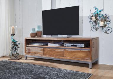 TV-Board Sheesham / Akazie 170x40x56 gebeizt PARIS #15