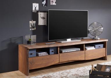TV-Board Akazie 191x45x50 braun lackiert LIVE EDGE #209