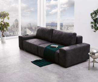 DELIFE Big-Sofa Lanzo L 250x105 cm Anthrazit Vintage Optik, Big Sofas