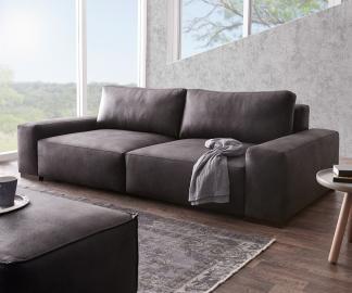 DELIFE Big-Sofa Lanzo 270x125 cm Anthrazit Vintage Optik, Big Sofas