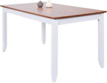 Massivholz Esstisch ´´Country´´ 160x90 cm braun/weiß