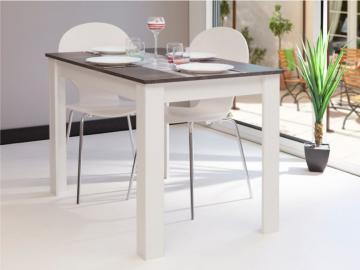 Esstisch Cassy II - Weiß & Grau
