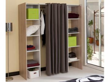Kleiderschrank Kleiderschranksystem Emeric - Eichefarben & Taupe