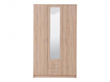Kleiderschrank OLESSIA - 3 Türen - Eichefarben
