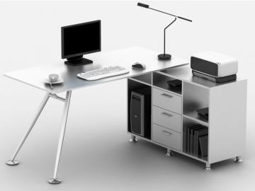 Computertisch Schreibtisch Alceme mit Seitenschrank