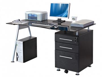 Computertisch Schreibtisch Glas Andromeda