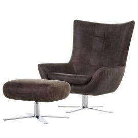 home24 Sessel Itala (mit Hocker)