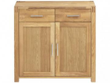 Sideboard Holz BROCELANDE II - Eiche geölt - 2 Türen & 2 Schubladen
