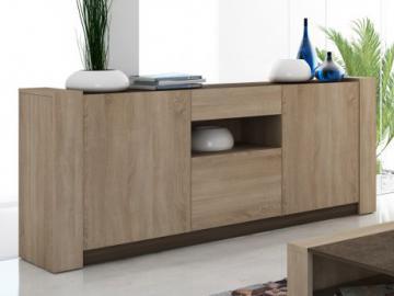 sideboard woodson akazie massiv eisen akazie hellbraun 145 cm fs inspire