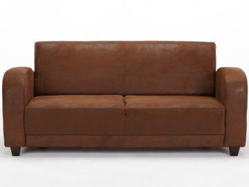3-Sitzer-Sofa Microfaser Misty - Braun