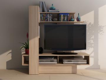 TV-Wandmöbel KABELLO mit Stauraum - Eiche