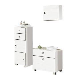 Set per il bagno Montreal (3 pezzi) - Bianco lucido, Schildmeyer