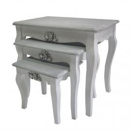 Set di tavolini d'appoggio Middlefield (3 pezzi) - Legno parzialmente massello paulonia, Jack and Al