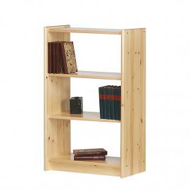 Libreria Tomke I - Pino massello Naturale, Steens