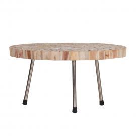 Tavolino da salotto Atwater - Legno massello di teak, Red Living