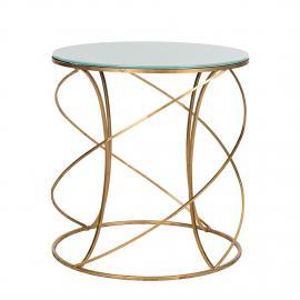 Tavolino da salotto Cagney - Color oro/Bianco, Safavieh